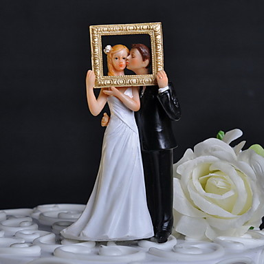 couple wedding cake box cake topper classic theme classic with flowers gift 13017