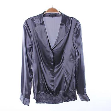 ff48ccf1672b μετάξι είναι-γοητευτικό γυναικών μακρύ πουκάμισο γκρι μανίκι (πλεόνασμα  προκειμένου διεθνείς μάρκες) 726485 2019 –  106.63