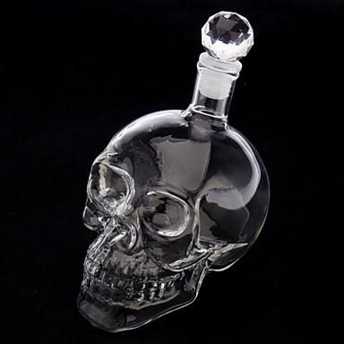Skull Head Shape Wine Drinking Vodka Glass Bottle Decanter Novelty ...