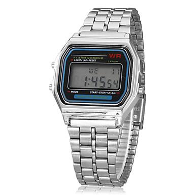 Heren Polshorloge Digitaal horloge Digitaal Zilver Alarm Kalender Chronograaf Digitaal Amulet Klassiek - Zilver Een jaar Levensduur Batterij / LCD / SODA AG4