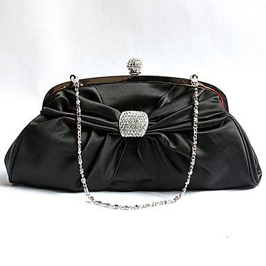Noche De Elegante Perla negro Bolso 1021939 Xiu Cadena Bordado qvOYxA7X