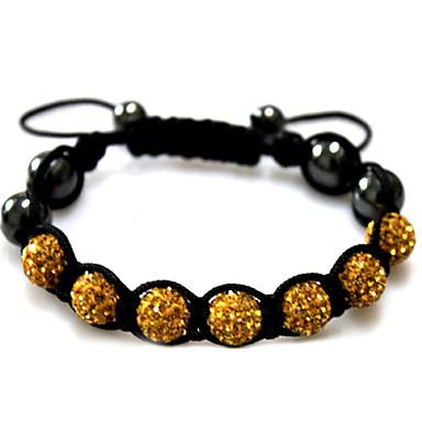 levne Dámské šperky-Dámské Korálkový náramek Silver Bracelets dámy Akrylát Náramek šperky Černá / Červená / Zelená Pro Ležérní / Štras