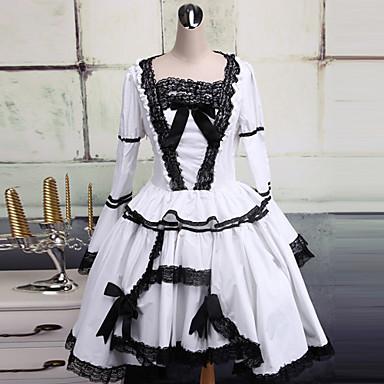 Et Lolita Stykkekjoler Kjoler Cosplay Hvid Gotisk azv8xa