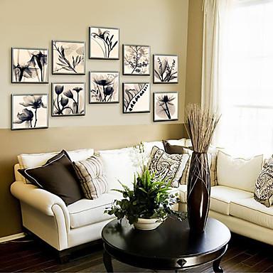 Tele con cornice set con cornice floreale botanical - Decorazioni da parete ...