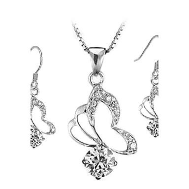 Πεταλούδα σκουλαρίκια πλατεία   Κολιέ Σετ κοσμήματα 888456 2019 –  7.99 ed4b03f6374