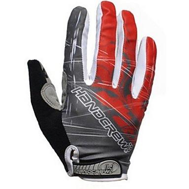 SPAKCT Full Finger Winter Warm Bike Sport Windproof Gloves-Thunder Red