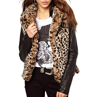 De Cuello Leopardo Las Mujeres Fancyqube Estampado Moda Solapa dxagnA