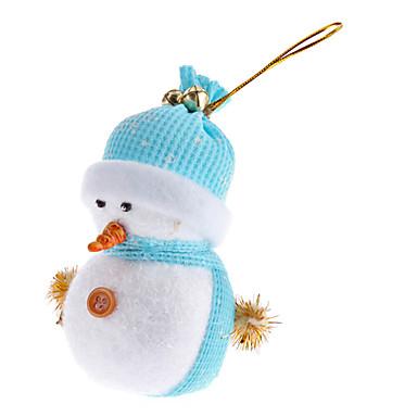 preiswerte Urlaubszubehör-Light Weight Gestrickte Hatted Schneemann Ornament (zufällige Farbe)