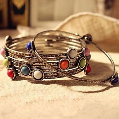 levne Dámské šperky-Dámské Řetězové & Ploché Náramky Sladkosti Cikánské Cikánský Pryskyřice Náramek šperky Duhová Pro Denní
