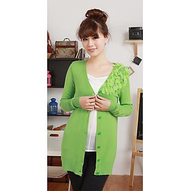 Κορέα Sweet μακρυμάνικο πουκάμισο Απλικέ πλέξιμο μάλλινο παλτό 997250 2019  –  26.23 c09b91dad30