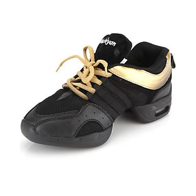 ff72f0341ec Ανδρικά Γυναικεία Παπούτσια Χορού Δέρμα Χωρίς Τακούνι Αθλητικά Κορδόνια  Επίπεδο Τακούνι Μαύρο και χρυσό Μη Εξατομικευμένο 241928 2019 – $29.99