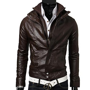 [$16.99] Ocio Vans Hombre soporte de cuello chaqueta corta (de café)