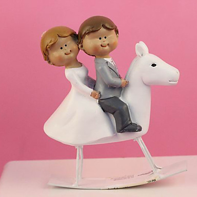 couple wedding cake box cake topper classic theme classic resin wedding 13017