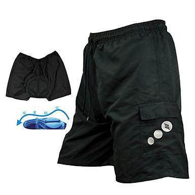 SANTIC Herre Fôrede sykkelshorts - Svart Helfarge Sykkel Hengende Shorts MTB-shorts Bunner, Pustende 3D Pute Fort Tørring / Avanserte sømteknikker