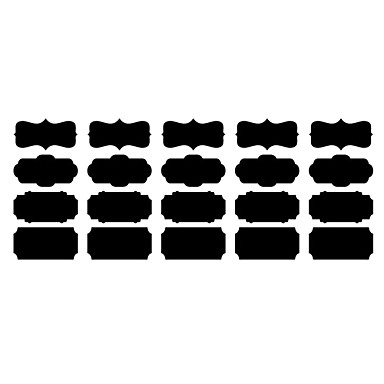 blackboard wall sticker removable different shapes of black memo