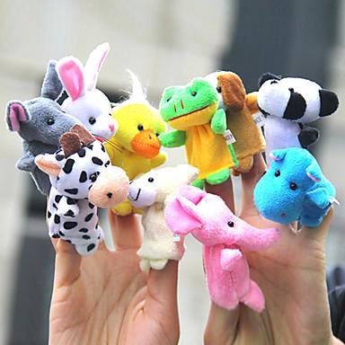 preiswerte Marionetten-10 Stück Tier-Plüsch-Fingerpuppen Set