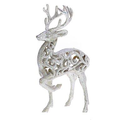 preiswerte Urlaubszubehör-Silver Glitter Reindeer Ornament