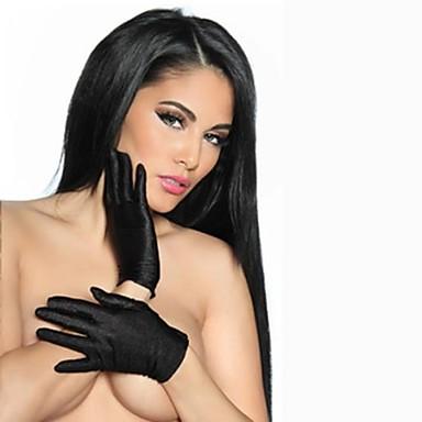 preiswerte Handschuhe für die Party-Elasthan / Farbschicht / Satin Handgelenk-Länge Handschuh Klassisch / Party / Abendhandschuhe Mit Einfarbig