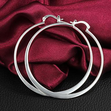 levne Dámské šperky-Dámské Náušnice - Kruhy Náušnice Creoles Klasika Velkoformátové Základní Rokové Velkoformátové Obrovský Postříbřené Náušnice Šperky Stříbrná Pro Denní Ležérní Street Klub