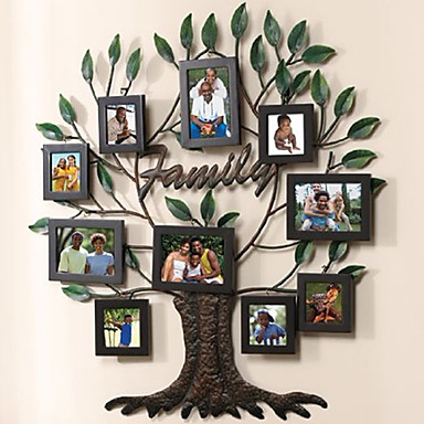 unique family tree collage picture frames set of 10 1050345 2018. Black Bedroom Furniture Sets. Home Design Ideas