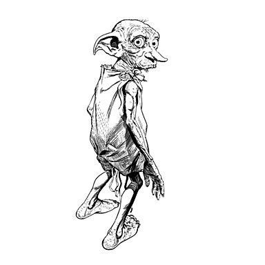 Vücut Sanatı Boyama Peri Cosplay Aksesuar Için Harry Potter Dobby