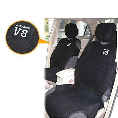 T16767 4 Pieces Car Seat Cover Set Vest Luxury Microfiber Max Power V8 Black 1097704 2018 1299