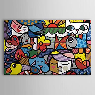 Gerdirilmis Tuval Resmi Karton Pop Art Tek Panelli Yatay Boyama