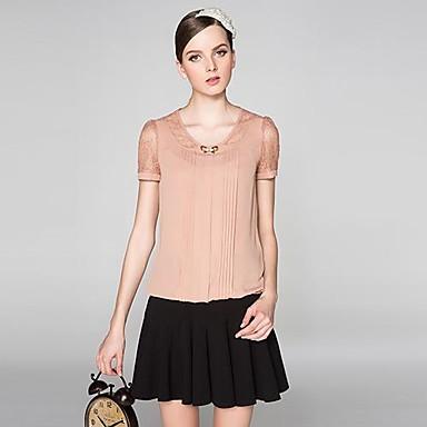 ac0328fe0af6 Μεγάλο Μέγεθος Γυναικεία Lace σιφόν κοντομάνικο πουκάμισο 1162167 2019 –   79.99