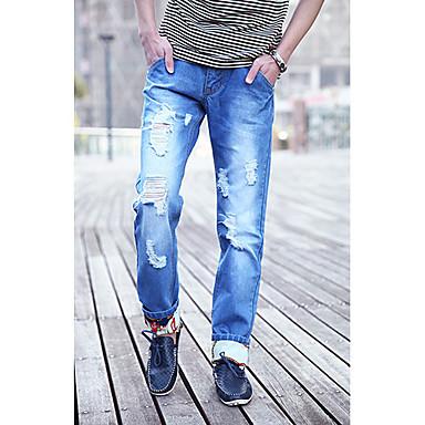 eb03bee77c Hombres con estilo de los pantalones vaqueros rasgados Embellecimiento  1134688 2019 –  44.99