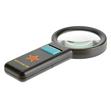levne Mikroskopy a endoskopy-8X 75mm Multifunkční 10 LED Ultra Bright Light Ruční Army styl lupa