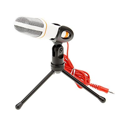 666 3.5mm stereo plug Bracket Hoge kwaliteit KTV microfoon (Wit) Wired Karaoke Microphone