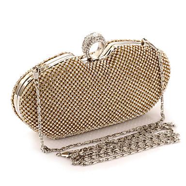 preiswerte Schuhe und Taschen-Damen Crystal / Strass Metal Abendtasche Strass Kristall Abendtaschen Gold / Schwarz / Silber / Hochzeitstaschen / Hochzeitstaschen