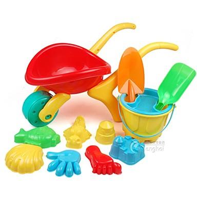 voordelige water Speeltjes-12 Stuks Grote en middelgrote Thicken Water en Zand Trolley Toy Set