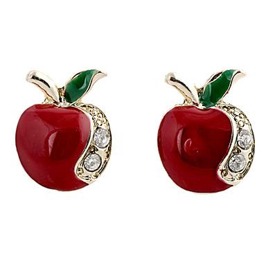 povoljno Modne naušnice-Žene Sitne naušnice Apple dame Luksuz Moda Umjetno drago kamenje Imitacija dijamanta Naušnice Jewelry Za Party Dnevno Kauzalni Sport