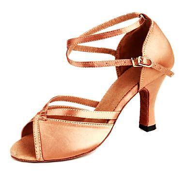 Chaussures de danse(Argent Or Bronze) -Personnalisables-Talon Personnalisé-Cuir Paillettes-Latines Modernes Salsa , bronze , us9.5-10 / eu41 / uk7.5-8 / cn42