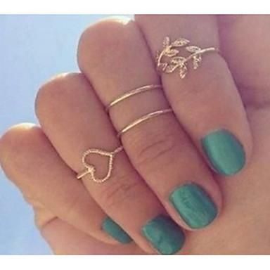 Dam Smycken Set 4pcs Guld Silver Diamantimitation Legering damer Ovanligt Lyx Party Dagligen Smycken Hjärta Kärlek