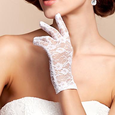 preiswerte Handschuhe für die Party-Spitze / Polyester Handgelenk-Länge Handschuh Klassisch / Brauthandschuhe Mit Einfarbig