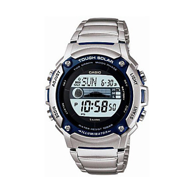 9eaf3e20216a Gráfico de mareas CASIO Unisex Solar Powered despertador digital LED  estándar lightWaterproof Fase Lunar reloj W-S210HD-1AVDF 1329049 2019 –   105.99