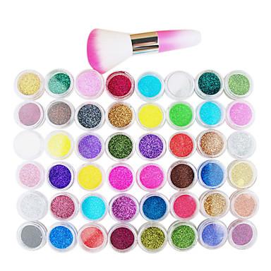 levne Náčiní a vybavení-1ks Glitter Sada na nehty Pro 48 barev nail art manikúra pedikúra Moderní / Japan and Korea Style / Free Form