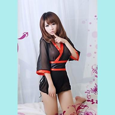 070704503 حار شفاف اليابانية كيمونو نمط المرأة الشيفون مثير الملابس الداخلية ...
