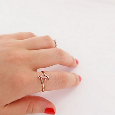 billige Motering-Dame Band Ring tommelfingerring 1pc Gull Sølv Legering damer Uvanlig Unikt design Fest Daglig Smykker Hjerte Kjærlighed