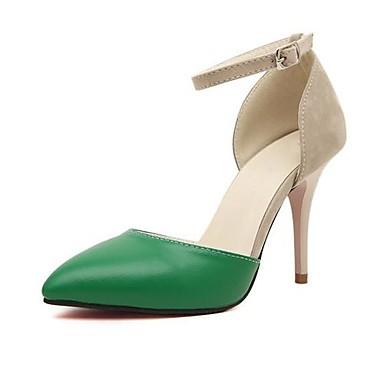cdd608a1dc0fc3 Chaussures Femme - Habillé - Noir / Vert - Talon Aiguille - Talons / Bout  Pointu - Talons - Similicuir de 1279316 2019 à $24.99