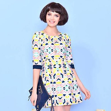 387820160268 Estate Nuovo mezza manica con stampa Donna Elegante Vestito del 1343084 2019  a  69.99