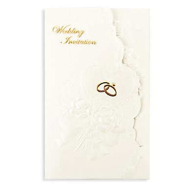 Tri Fold Wedding Invitations 50 Invitation Cards Floral Style