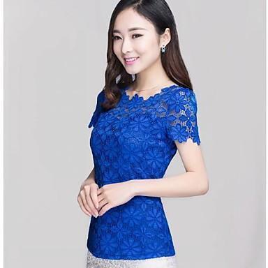 5531d93fae Női koreai új stílus rövid ujjú csipke blúz 1435045 2019 – $22.94