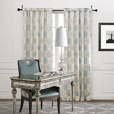Two Panels Curtain Country Bedroom Poly / Cotton Blend Material Curtains  Drapes Home Decoration For Window 1374156 2018 U2013 $67.66