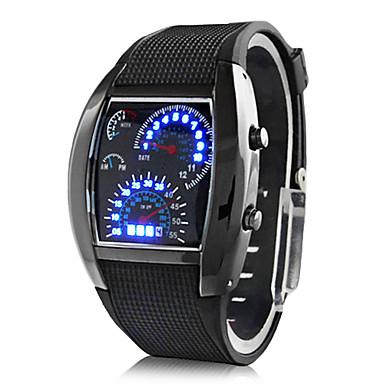 0ed2a850fcb2 Hombre Reloj de Pulsera Reloj digital Digital Caucho Negro Calendario  Creativo Digital Azul Oscuro Marrón Azul Claro Dos año Vida de la Batería    Panasonic ...