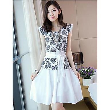 3467dd490c Női koreai Stílus Elegáns Solid Color virágos Köntös Mini Dress 1341378  2019 – $24.98