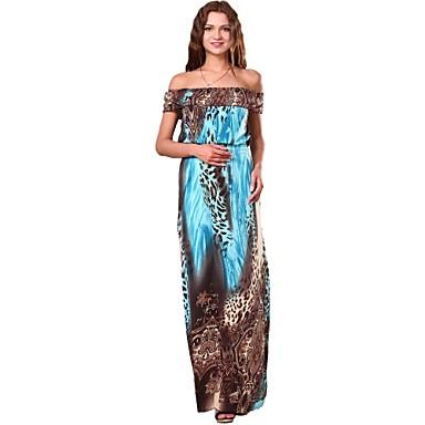 Maya Női alkalmi Sexy Leopard Boho Bohemian Print maxi ruha 1380942 2019 –   12.60 f30d086dd9