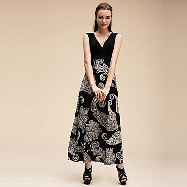 8f7cc87c5f4b Γυναικεία Deep V Neck Εκτύπωση μποέμ Φορέματα Maxi 1472212 2019 –  31.99